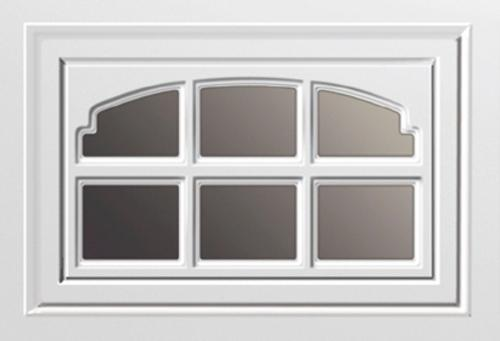 Ideal door white design insert charleston short panel at for Ideal garage doors