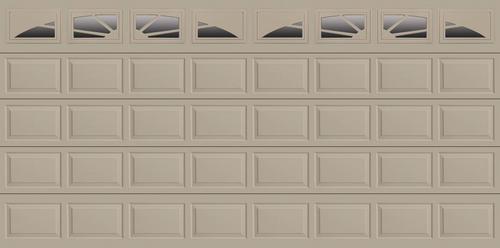 Ideal door sunrise 16 ft x 8 ft 4 star sandtone insul for 16 x 8 insulated garage door