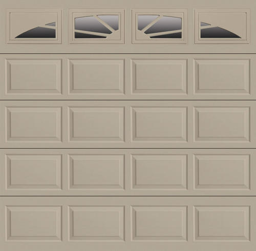 Ideal door sunrise 9 ft x 8 ft 4 star sandtone insul for Ideal garage doors