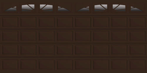 Ideal door 16 ft x 8 ft 4 star chocolate sunrise insul for 16x8 garage door prices