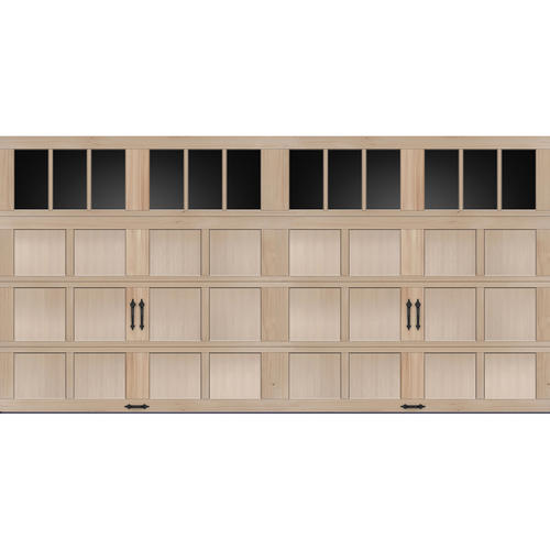 Ideal door rec13 lites carriage house wood mh2h 16 ft x for 16x8 garage door prices