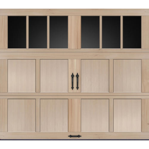 Ideal door rec13 lites carriage house wood mh2h 8 ft x 7 for Ideal garage doors