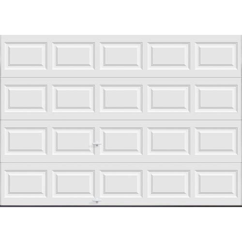 Ideal door 10 ft x 7 ft 5 star white raised pnl insul for Garage door springs menards