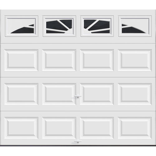 Ideal door sunrise 8 ft x 7 ft 5 star white raised pnl for Ideal garage doors