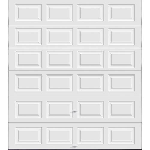 Ideal door 9 ft x 10 ft 5 star white raised pnl insul for 10 x 7 garage door menards