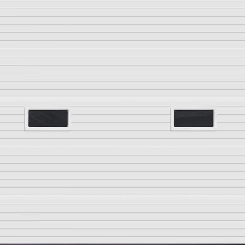 Ideal door 10 ft x 10 ft 5 star white ribbed 2 lite for 10 x 9 garage door