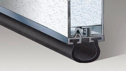 Ideal door 16 ft aluminum astragal retainer strip at for 16 foot garage door