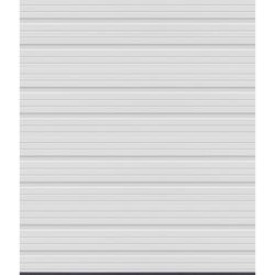 Ideal Door® 3-Star C5EST 6 ft. x 7 ft. White Deep Ribbed Woodgrain Panel Non-Insulated Torsion Spring Garage Door