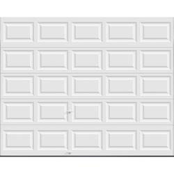Ideal Door® 5-Star 10 ft. x 8 ft. White Insulated Garage Door with EZ-SET® Spring