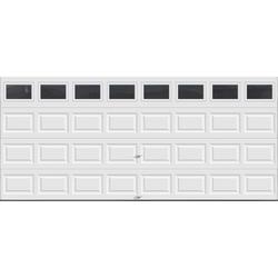 Ideal door plain windows 16 ft x 7 ft 5 star white for 16 foot garage door springs