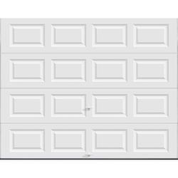 Ideal Door® 5-Star 9 ft. x 7 ft. White Raised Panel Insulated Garage Door