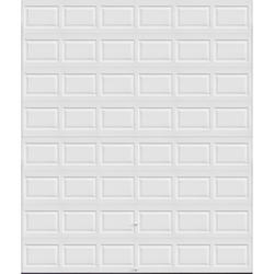 Ideal Door® 4-Star 12 ft. x 14 ft. White Raised Panel Non-Insulated Garage Door