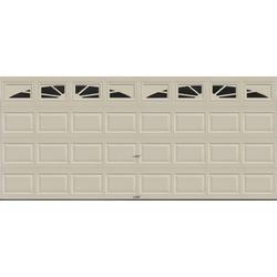 Ideal Door® 4-Star Sunrise 16 ft. x 7 ft. Desert Tan Insulated Garage Door with EZ-SET® Spring