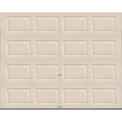 "Ideal Door® 3-Star Standard Value Non-Insulated Garage Door - 9 ft. wide x 7 ft. high - Almond - Solid, No Windows - EZ-Set® Torsion Spring with 12"" Radius Standard Lift Track -"
