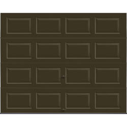 "Ideal Door® 3-Star Standard Value Non-Insulated Garage Door - 9 ft. wide x 7 ft. high - Chocolate - Solid, No Windows - Extension Springs with 12"" Radius Standard Lift Track -"