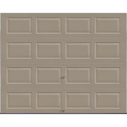 "Ideal Door® 3-Star Standard Value Non-Insulated Garage Door - 9 ft. wide x 7 ft. high - Sandtone - Solid, No Windows - EZ-Set® Torsion Spring with 12"" Radius Standard Lift Track -"