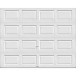 """Ideal Door® 3-Star Standard Value Non-Insulated Garage Door - 9 ft. wide x 7 ft. high - White - Solid, No Windows - Extension Springs with 12"""" Radius Standard Lift Track -"""