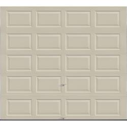 "Ideal Door® 3-Star Standard Value Non-Insulated Garage Door - 9 ft. wide x 8 ft. high - Desert Tan - Solid, No Windows - EZ-Set® Torsion Spring with 12"" Radius Standard Lift Track -"