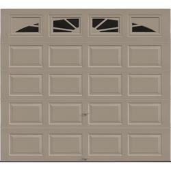 Ideal Door® 4-Star Sunrise 9 ft. x 8 ft. Sandtone Insulated Garage Door with EZ-SET® Spring