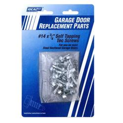 """Ideal Door® 20-Pack 3/4"""" x No. 14 Tek Screws for Overhead Garage Doors"""