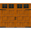 Ideal Door® 9 ft. x 7 ft. Medium Oak Steel Carriage House  EZ-SET® Garage Door