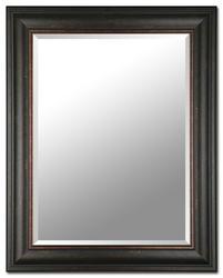"Images 2000 30"" x 24"" Brown/Bronze Beveled Mirror"