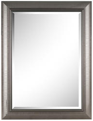 """Images 2000 26"""" x 34"""" Stylized Gray Gloss Mirror"""