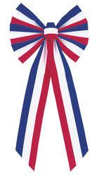 "22"" Patriotic Glitter Bow"