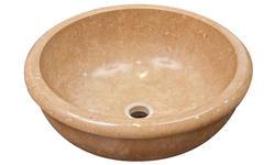 Round Travertine Sink