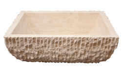 Square Travertine Sink