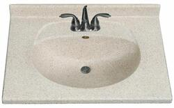 "Imperial 25"" Wide x 22"" Deep Olympic Bowl Vanity Top"
