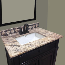 "Imperial Impressions 61"" Wide x 25"" Deep Impressions Right Offset Vanity Top"