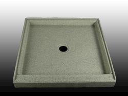 "32"" x 32"" Shower Base Center Drain integrated threshold (1 Side)"