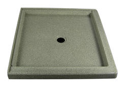 "36"" x 36"" Shower Base Corner integrated threshold (2 Sides)"