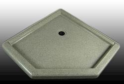 "38"" x 38"" Shower Base Neo Angle Corner integrated threshold (3 Sides)"