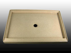 "60"" x 36"" Shower Base Center Drain integrated threshold (One Side)"