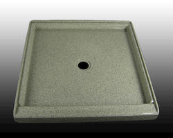 "36"" x 36"" Shower Base Center Drain integrated threshold (1 Side)"