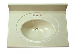 "Imperial 31"" Wide x 19"" Deep Recessed Center Oval Bowl Vanity Top"