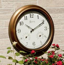 """18"""" Indoor/Outdoor Copper Wall Clock"""