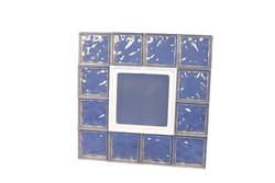 "IPS 32"" x 32"" Wave Glass Block Panel with Hopper Vent"
