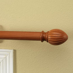 "Intercrown 1 3/8"" Diameter Decorative Wood Acorn Finial - Oak"