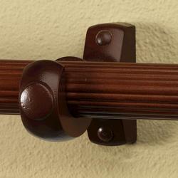 "Intercrown 1 3/8"" Diameter Traditional Wood Brackets - Walnut"