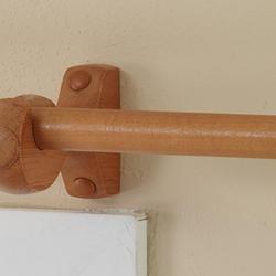 """Intercrown Decorative Wood Curtain Rod 3/4"""" Diameter Pole"""