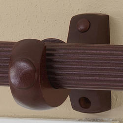 "Intercrown 1 3/8"" Diameter Decorative Wood Fluted Curtain Rod - Cherry - 8'"