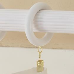"Intercrown 1 3/8"" Diameter Traditional Wood Rings - White"