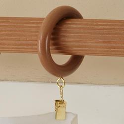 """Intercrown 1 3/8"""" Diameter Traditional Wood Rings - Oak"""