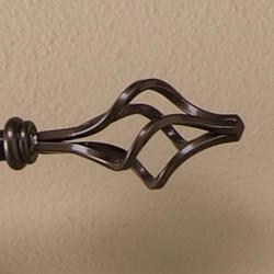"""Intercrown 9/16"""" Diameter Decorative Birdcage Curtain Rod 48"""" - 84"""""""
