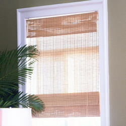 "Intercrown Kea Natural Woven Wood Shades 60""X64"""