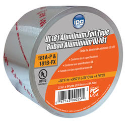 All temperature, 2-1/2 inch x 60 yard Foil Tape