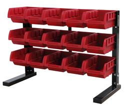 Tool Shop® 15-Bin Parts Storage Rack